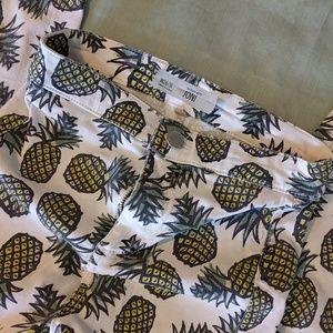 Topshop Pineapple Moto Joni Capris 🍍